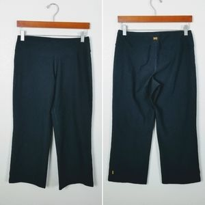 LUCY black cropped loose pants